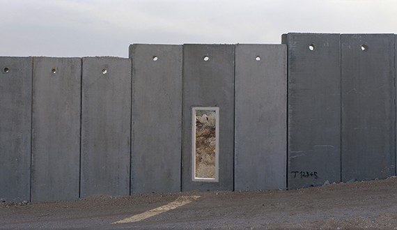 Piece of not finish wall between the Israeli settlement of Modi´in Illit and the Palestinain village of Bili´in. After a highcourt descision the wall was rerouted an the village got back a part of its agricultural land in June 2011. Occupied Palestinian Territories, November 2010.